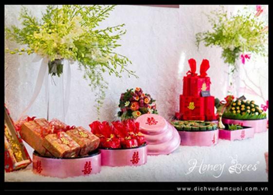 Dịch vụ mâm quả ngày cưới, công ty dịch vụ đám cưới Honey Bees